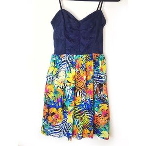 Strapless Tropical Dress City Triangles